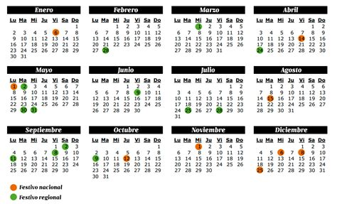 Calendario Para Colombia 2017 Con Festivos Calendario Laboral 2016 Financiamiento Org Mx