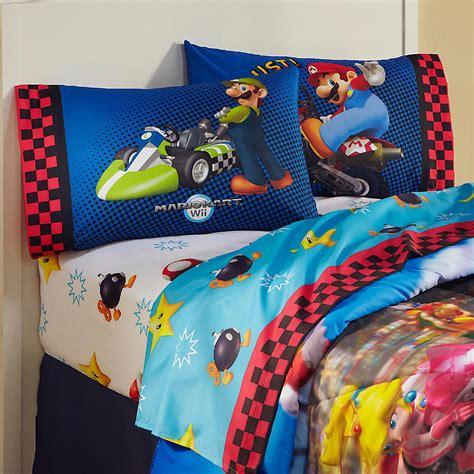 super mario pillowcase nintendo boy s mario reversible pillowcase home bed bath bedding sheets