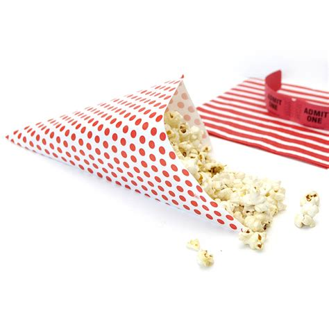 How To Make Paper Cones For Popcorn - paper popcorn cones by blossom notonthehighstreet