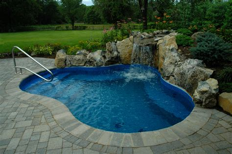 Patio With Pool Home Design Scrappy Small Backyard Inground Pools