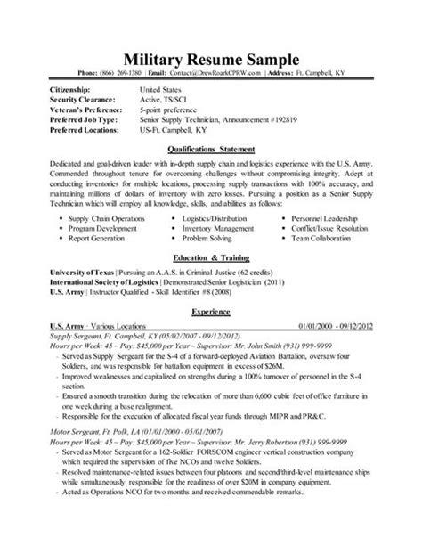 military to civilian resume examples military to civilian resume