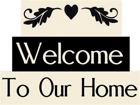 home stencil stencil flourish welcome to our home free shipping ebay