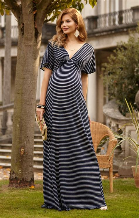 Celia Maxi celia maternity maxi dress navy stripe maternity wedding