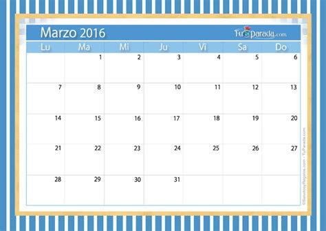 Calendario De Marzo Calendario Marzo 2016 Calendarios Mensuales Tarjetas