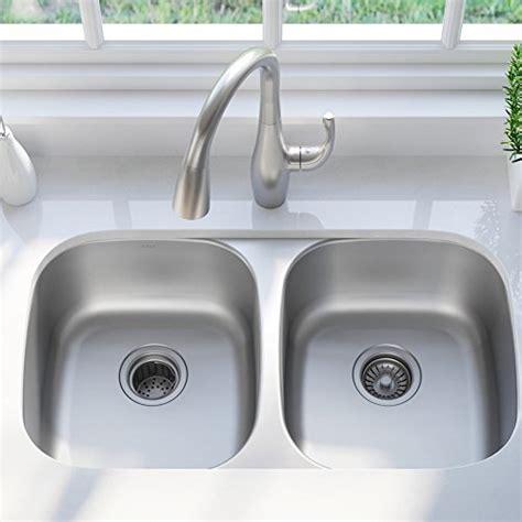 Kraus 32 Inch Undermount Sink by Kraus Kbu22 32 Inch Undermount 50 50 Bowl 16