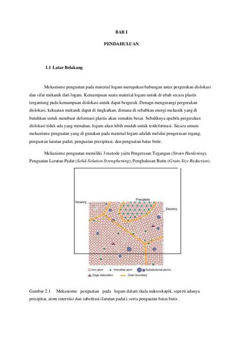 makalah membuat larutan makalah tentang mekanisme penguatan material teknik