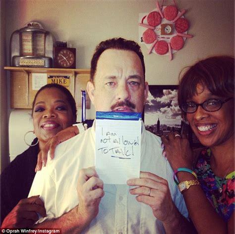 TONY AWARDS 2013: Tom Hanks snaps wife Rita Wilson on the