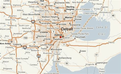 map of usa states detroit detroit location guide