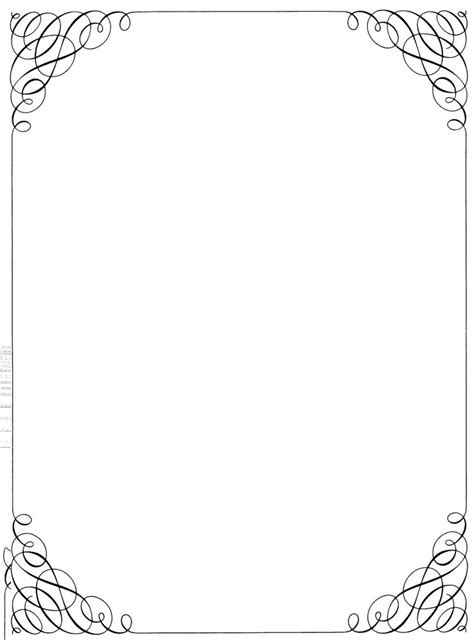 black and white border cards template letterhead corner fall simple borders 18259 hd