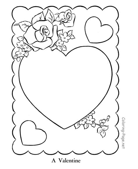 valentine coloring pages make your own