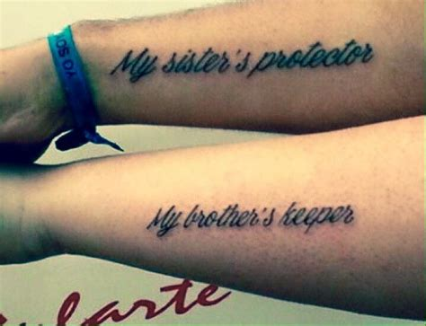 big brother tattoos my s protector my s keeper siblings