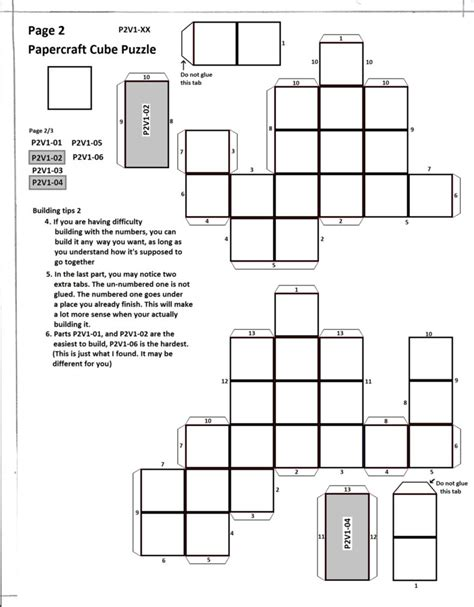 cube paper craft papercraft cube puzzle page 2 by collecter128 on deviantart