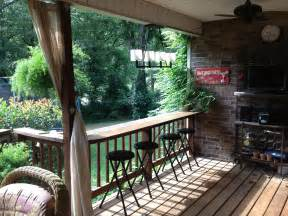 Deck Railing Bar Top by Bar Deck House And Garden Ideas