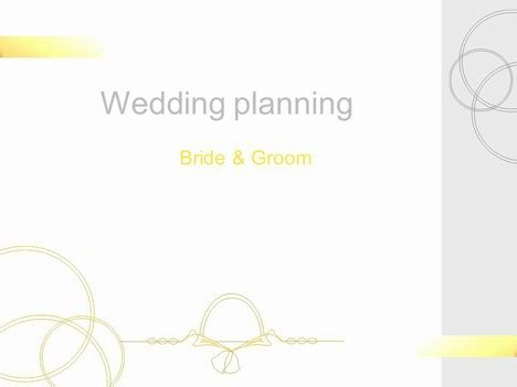 Wedding Planning Template Powerpoint Wedding Templates