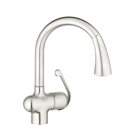 Grohe Ladylux Pull Out Kitchen Faucet by Grohe 33755sd1 Ladylux Dual Spray Pull Out Kitchen Faucet