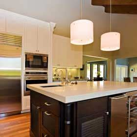 pendant lights in the kitchen