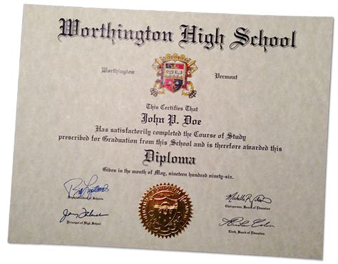 Fake High School Diplomas And Certificates Diploma Seal Template