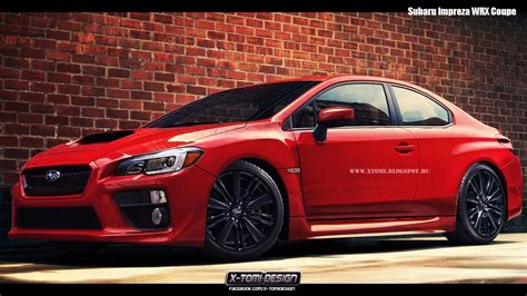 Subaru Coupes by 2015 Subaru Wrx Coupe Rendering Autoevolution