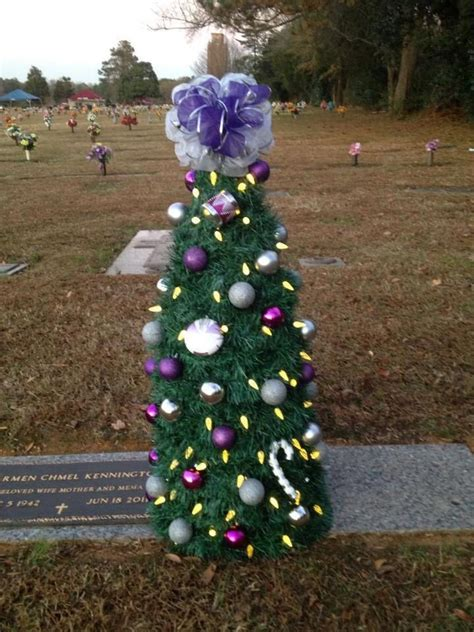 16 in solar powered christmas tree for cematery momas tree with solar lights headstone ideas trees trees