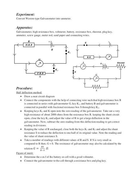 conversion of galvanometer into voltmeter circuit diagram g to a