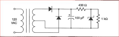 voltage regulator with zener diode design voltage regulator using zener diode images