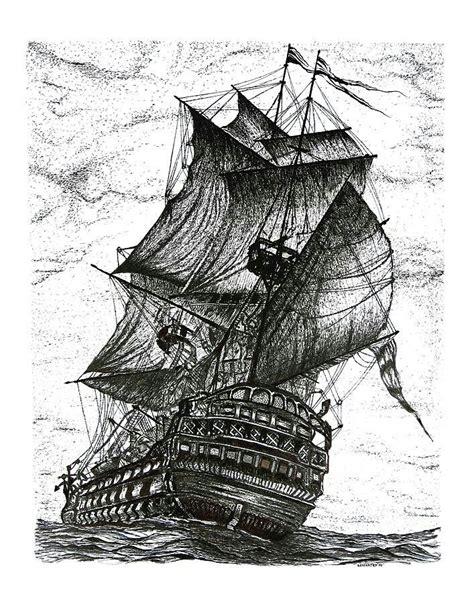 boat drawing ink pen drawing of ship art ink pen drawings drawings ink