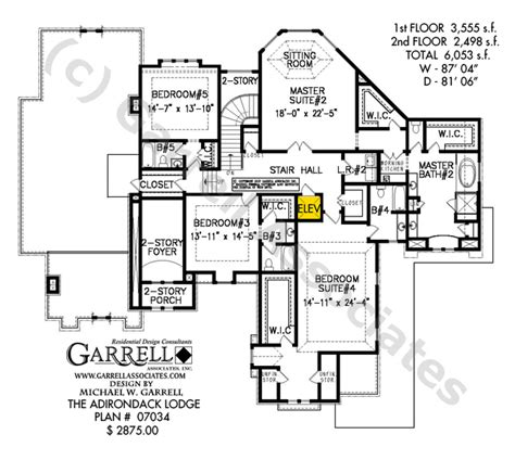 adirondack lodge house plan house plans by garrell