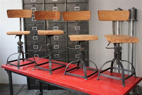 chaise atelier industrielle bienaise metal et bois