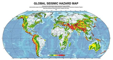 earthquake mp earthquake hazard map