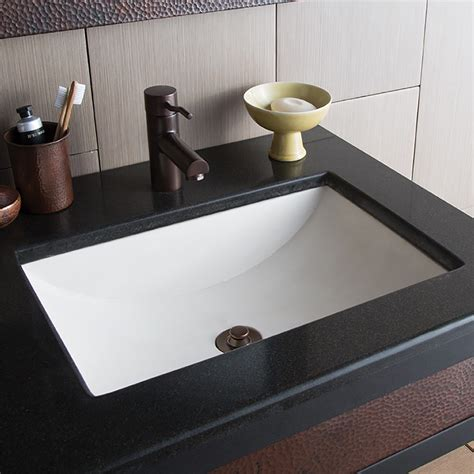 bathroom lavatory cabrillo dual mount rectangular bathroom sink native trails