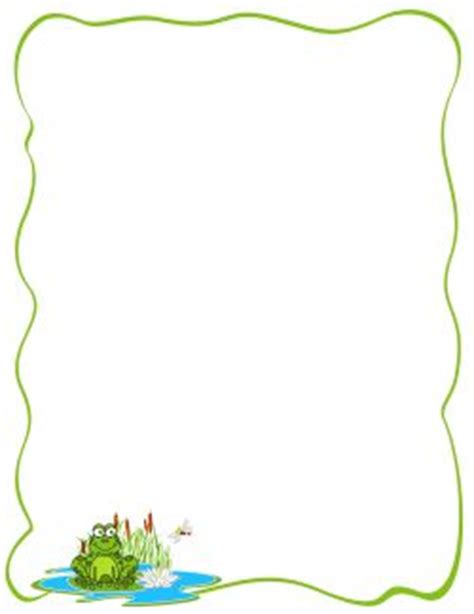 frog border writing paper 31 best page borders images on page borders