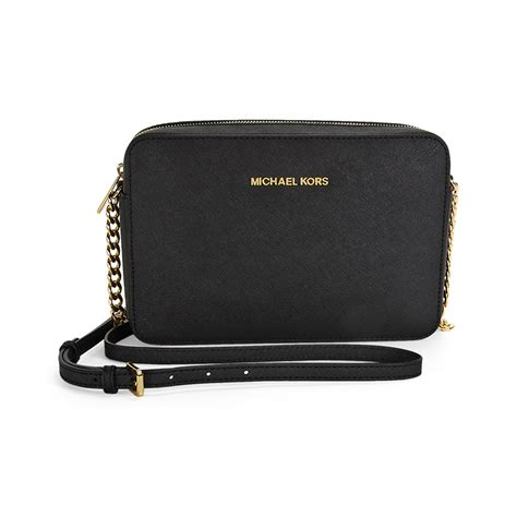 michael kors jet set cross body bag large crossbody black