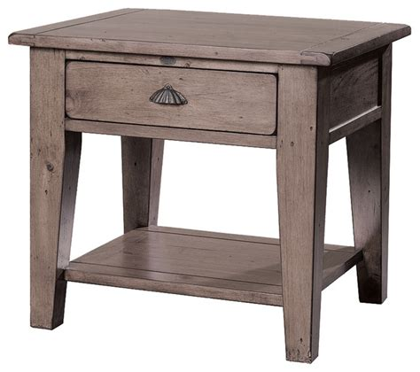 Bedside Table With Drawer And Shelf by Reclaimed Solid Wood End Table With Drawer And Shelf