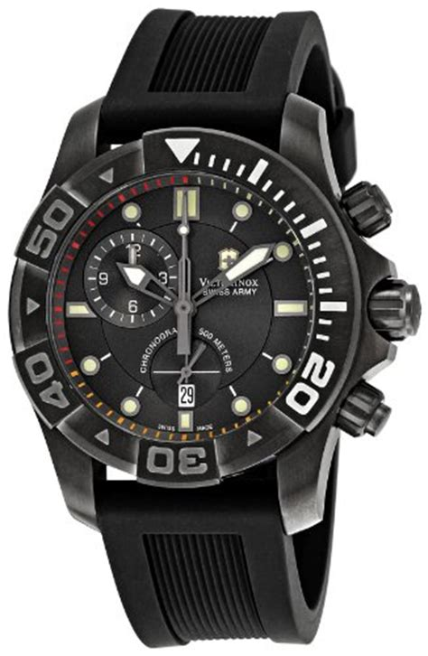 Swiss Army Sa2013m Black Leather victorinox swiss army s 241421 dive master black bossman watches