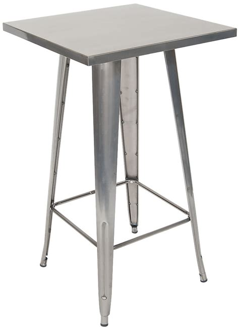 metal bar height table metal table in clear finish bar height
