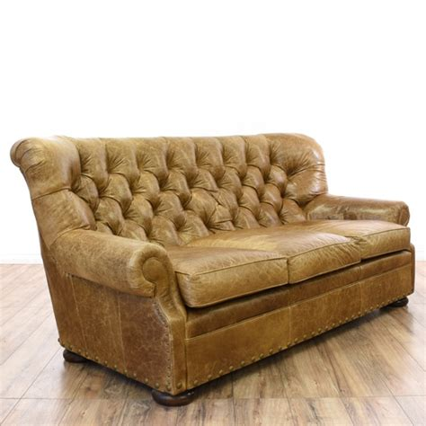 tufted distressed leather sofa distressed brown leather tufted club sofa loveseat