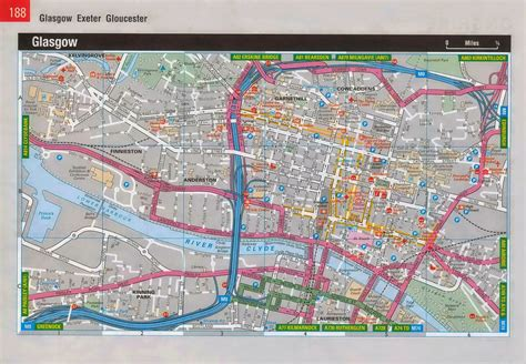 printable map glasgow city centre map of glasgow scotland free printable maps