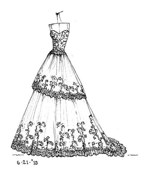 Brautkleider Zeichnen Lernen by Www Etsy Shop Dresssketch Wedding Dress Sketches