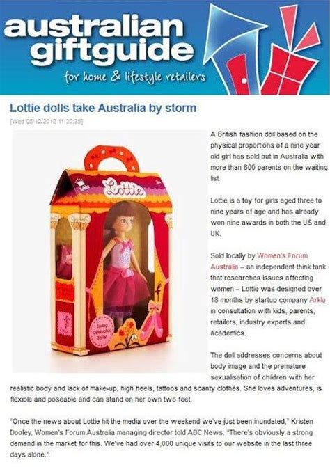 lottie dolls australia press tagged quot australia press coverage quot lottie dolls
