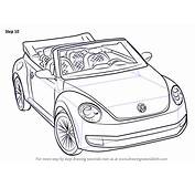 Step By How To Draw Volkswagen Beetle Convertible