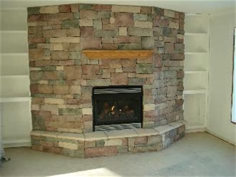 gas fireplace w veneer and custom cabinets pictures