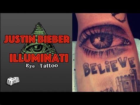 justin bieber s new all seeing eye tattoo illuminati