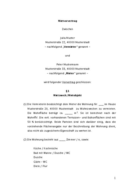 Musterbrief Termin Vereinbaren Gewerbe Untermietvertrag Vorlage Zum