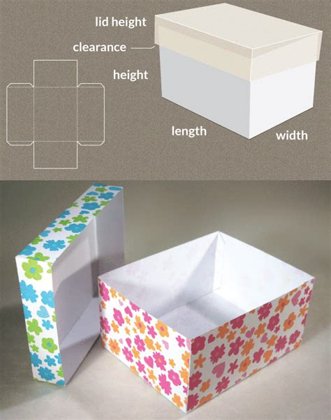 template for box with lid box with lid template www templatemaker nl
