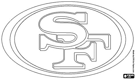 49ers Coloring Page by 49ers Logo Coloring Pages Www Pixshark Images