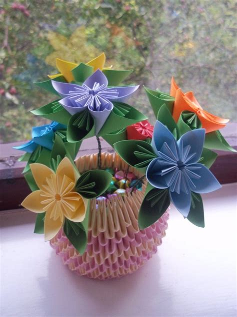paper flower pot tutorial kusudama flower pot by ilyere on deviantart
