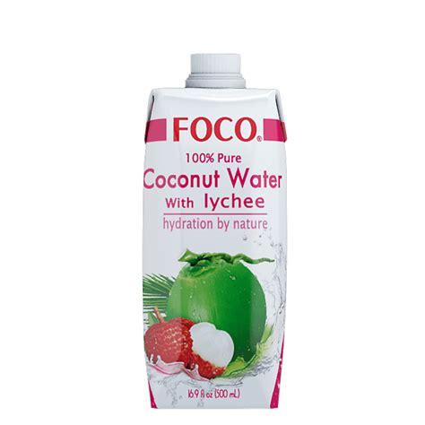 Shelf Of Coconut Water by Foco 100 Coconut Water