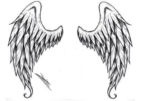 black and white angel wings tattoo designs black and white wings designs pin wing