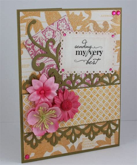 Handmade Wishing Cards - best wishes card handmade card thinking of you card