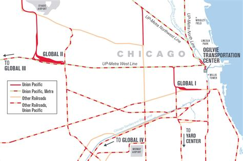 chicago rail map up chicago balancing freight and commuters at the world